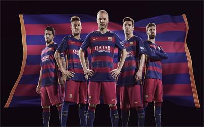 barcelona home kit 2015-2016