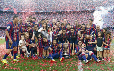 selebrasi barcelona juara laliga